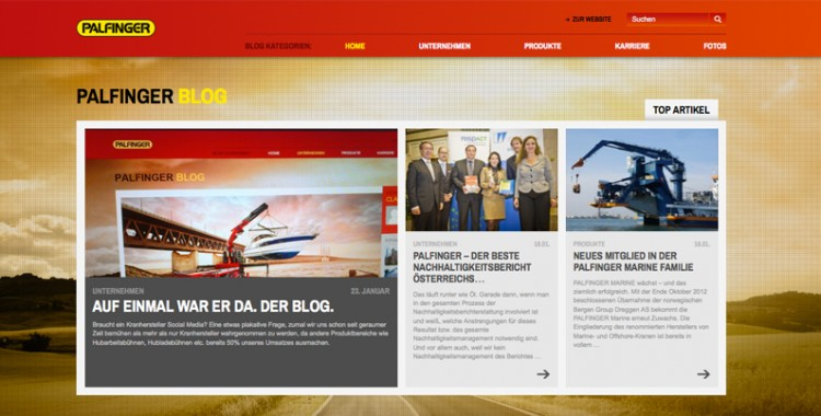 Corporate Blog der PALFINGER AG