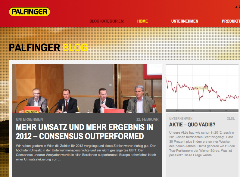 Screenshot Palfinger Blog