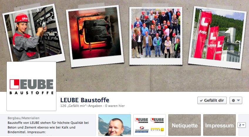 Facebook-Auftritt LEUBE